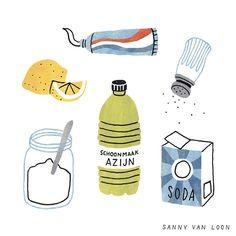 Illustration for a spring cleaning guide in Margriet magazine by Sanny van Loon • Illustration  www.sannyvanloon.com