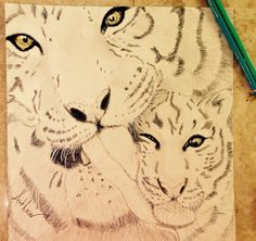 Mother's Day tiger drawing