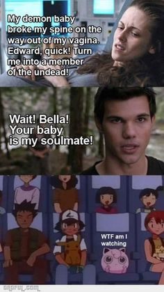 Funny pictures about How I feel when watching Twilight. Oh, and cool pics about How I feel when watching Twilight. Also, How I feel when watching Twilight. Twilight Jokes, Twilight Movie, Funny Twilight Quotes, Twilight Jacob, Twilight Series, Twilight Pictures, Smosh, The Villain, The Vampire Diaries