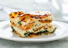 Squash & Broccoli rabe lasagna, can also be used to stuff shells