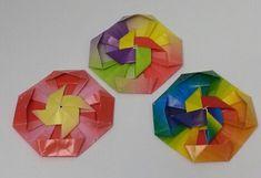 A jelvény a szélkerék   origami szórakozás