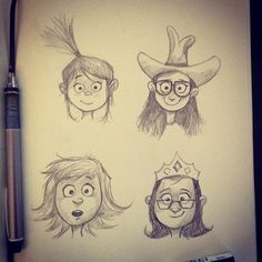 Girl power #dailysketch by Dave Mottram, via Flickr