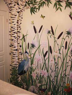 #Pond #Mural by #CharlotteHamilton