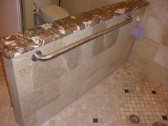 Grab bar in shower