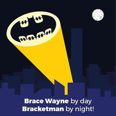 Brace Wayne By Day ... Bracketman By Night #Batman #BruceWayne