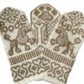 Cute poodle mittens