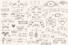 Vintage 'Ribbons and Bows' Pack by Bugcessories Design on Creative Market