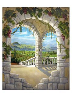 window garden mural interior design - Google Search