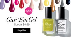 Avon Gel Finish 7-in-1 Nail Enamel at our lowest price ever. On on sale now for only $4.99 each. Choose from eight vibrant colors.