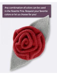 Large Rosette Pin