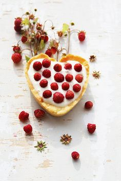 cake with wild strawberries...