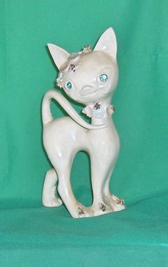 Large Unusual  Decorative Cat Figurine