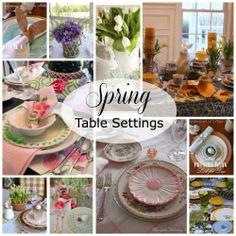 Ten Spring Inspired Table Settings 500x500 Favorite Spring Designs