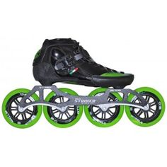 luigino strut package inline speed skate, come with Striker Frame and Atom One wheels Bionic Abec 7 Roller Derby, Roller Skating, Inline Speed Skates, Inline Skating, Bicycle Components, New Green, Cycling Equipment, Sport, The Struts