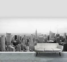 new york city self adhesive wallpaper mural by oakdene designs | notonthehighstreet.com