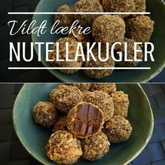 Jeg kan slet ikke holde fingrene fra de her vildt lækre Nutellakugler, der er rullet i knasende hasselnødder. Nøj, de er bare gode!