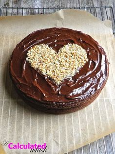 Chocolate Cake with Peppermint Ganache (Paleo, Gluten free, Dairy free) - A Calculated Whisk