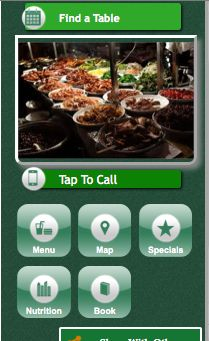 This is a variation on a mobile website design for a Malaysian restaurant. If you are unsure as to which design to go with for your mobile site, who better to ask than your customers. Do a survey and ask them which they prefer and what they would like to see on a mobile website.