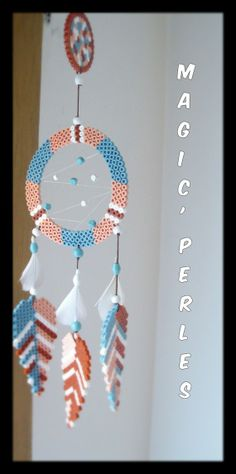 Attrappe-rêve grand modéle - Dreamcatcher hama perler by Alice Tobbi - Magic 'Perles