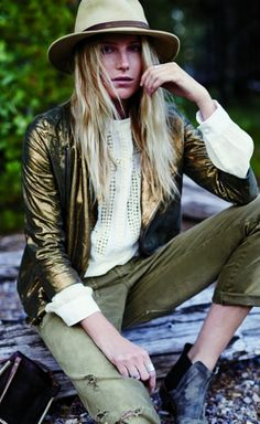 Dree Hemingway Looks Impossibly Perfect While Camping for Free People via @WhoWhatWear
