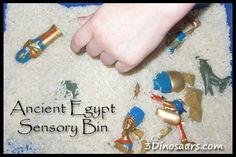Ancient Egypt Sensory Bin - 3Dinosaurs.com