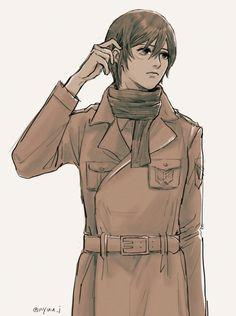 Aot Characters, Fictional Characters, Eren X Mikasa, Rivamika, Eremika, Animation, Illustration Girl, Attack On Titan Anime, Anime Art Girl