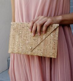 Cork & Leather Envelope Purse | Whether you use this purse as a card case, wallet or small clu... | Clutches & Special Occasion Bags
