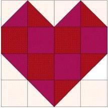 Heart quilt design