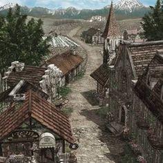 「fantasy mountain town」の画像検索結果