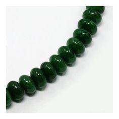 Jáde abacus ásványgyöngy 8x5 mm Sötét Zöld - Ásványok - Csinálj Ékszert! webáruház