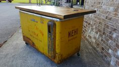 Rare Royal Crown Nehi Cooler Dressing Table Shelves, Drawer Table, Coastal Furniture, Crown Royal, Trading Company, Big Fish, Chest Of Drawers, Bedrooms, Dining Table
