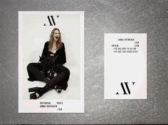 New Logo, Business Cards, Webdesign & Art Direction by Maison C.C. x Fashion Photographer Anna Vatheuer.