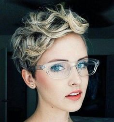 Pixie Cut with curly Asymmetrical Bangs 2016