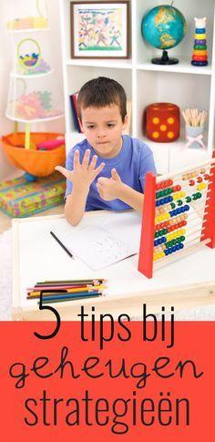 Wanneer kinderen moeite hebben met het ophalen van informatie uit het lange termijn geheugen kan het verstandig zijn om geheugenstrategieën aan te leren.