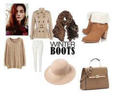 """""""Winter Boots"""" by noonietoonz12 on Polyvore featuring Burberry, River Island, UGG Australia and rag & bone"""