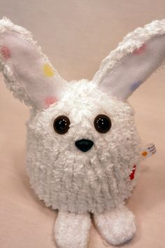 Items similar to White Easter Bunny Rabbit - Whee One - Small Stuffed Animal - Chenille Stuffed Toy - Plushie on Etsy Chenille Crafts, Easter Holidays, Bunny Rabbit, Stuffed Animals, Rabbits, Good Books, Christmas Ornaments, Holiday Decor, Disney Characters
