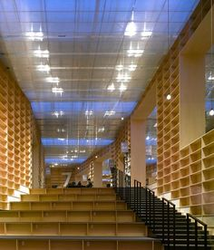 Musashino Art University Library by Sou Fujimoto Architects. The significance of library experience is also in discoveries the space engender to the users. One encounters the space as constantly renewed and transforming, discovers undefined relationships, and gains inspiration from unfamiliar fields.