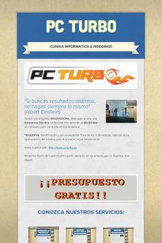 Flyer online de PC TURBO, la Clínica Informática especializada en servicios de reparación de ordenadores, portátiles, móviles y tablets!