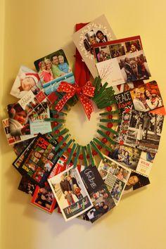Christmas Card Holder #thepinteresteffect