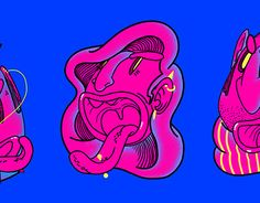 """Check out new work on my @Behance portfolio: """"FLUOHEAD"""" http://be.net/gallery/53072261/FLUOHEAD"""