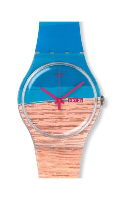 SWATCH, Surfing the Wave, BLUE PINE