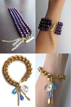 Acessórios por Elan Lauren/ Couldn't find purple beads at Wal-Mart today for the Ravens.