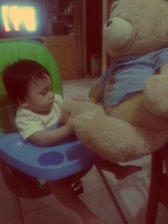 Playing with the bear