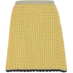 Miu Miu Knitted Cotton Skirt (51.065 RUB) ❤ liked on Polyvore featuring skirts, multicoloured, colorful skirts, multi color skirt, miu miu, cotton knit skirt and beige skirt