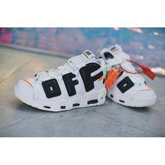 best service efbb4 716b0 OFF-White X Nike Sko Salg - Billig OFF White X Nike Air More Uptempo OW  Hvid Sort Sko Tilbud