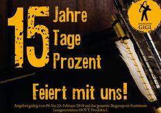 Feiert mit uns!  15 Jahre Bogensport Gigl, 15 Tage, 15 Prozent. (Aktion gültig bis 23.02.2019 ausgenommen Hoyt Artikel)