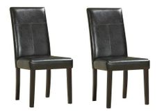 Modus Furniture Urban Seating Parsons Chairs, Chocolate Leatherette (set of two) by Modus Furniture. $117.00. Constructed from Birch solid wood, leatherette upholstery, flame retardant polyurethane foam. Stylish contemporary design. High, gently curved back makes for a comfortable seat. Durable 10 bolt grooved corner block construction makes for easy assembly and lasting beauty. Webbed seat cushion for extra comfort. The Urban Seating collection provides stylish, affordable sea...