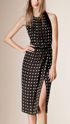 Polka Dot Print Silk Dress | Burberry