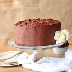 3 Layer French Vanilla Pudding Cake with Chocolate Fudge Frosting