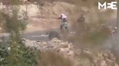 Fleeing Palestinian boy beaten by Israeli security services, who then fi...